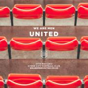 Martin Smith, Noel Robinson & Robin Mark For We Are Men United Event At Stoke City Stadium