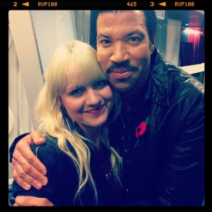 Philippa Hanna with Lionel Richie