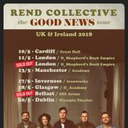 WIN Tickets To See Rend Collective On Tour